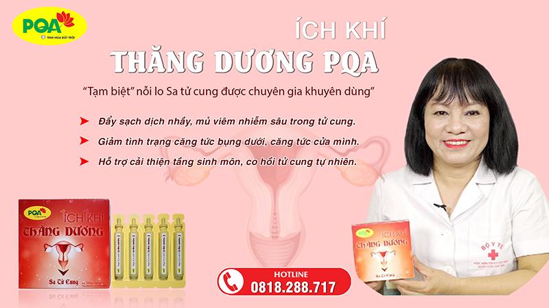 PQA Ích Khí Thăng Dương hỗ trợ điều trị sa tử cung